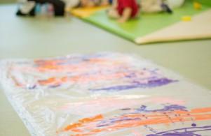 Sala aquisição de marcha - pintura no chão